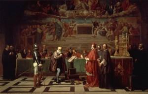 Жозеф-Николя Робер-Флёри. Галилей перед судом инквизиции (1847)