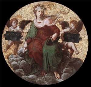 Рафаэль Санти. Теология (роспись потолка папского кабинета Станца делла Сеньятура, 1508-1511 гг.)