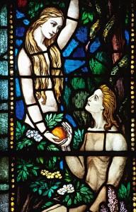 Адам и Ева (витраж)