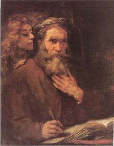 Рембрандт Харменс ван Рейн. Святой Матфей и Ангел (1661)