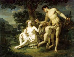 А.И. Иванов. Адам и Ева с детьми под деревом